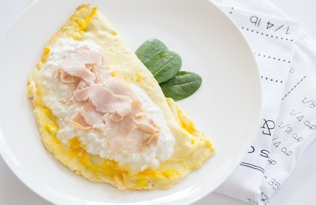 cottage cheese recipes Turkey and Cheese Scramble
