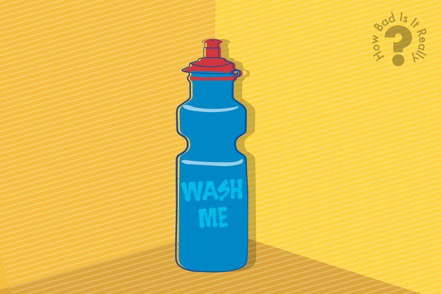 Illustration of a dirty water bottle