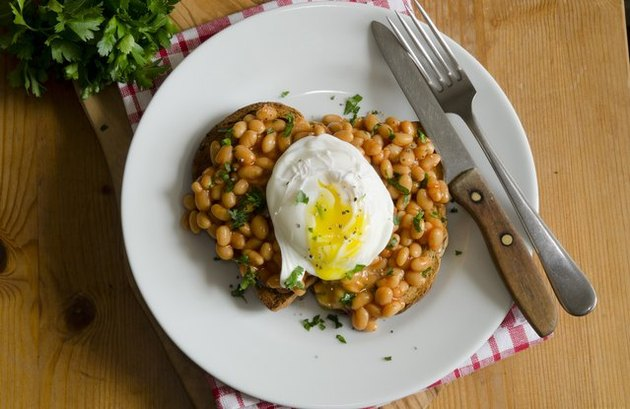 The Buenos Dias Toast With Refried salsa recipes Beans and Hardboiled Eggs
