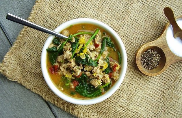 Cajun Turkey and Greens Hot Cereal Bowl ground turkey recipes