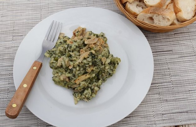 low calorie chicken recipes Pesto Chicken Farro Risotto