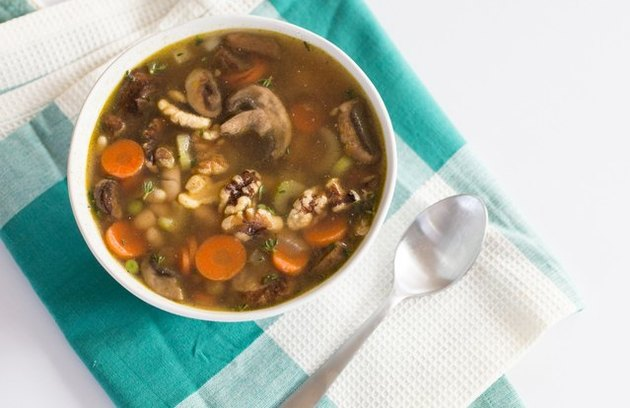 White Bean and Walnut Vegetable Soup