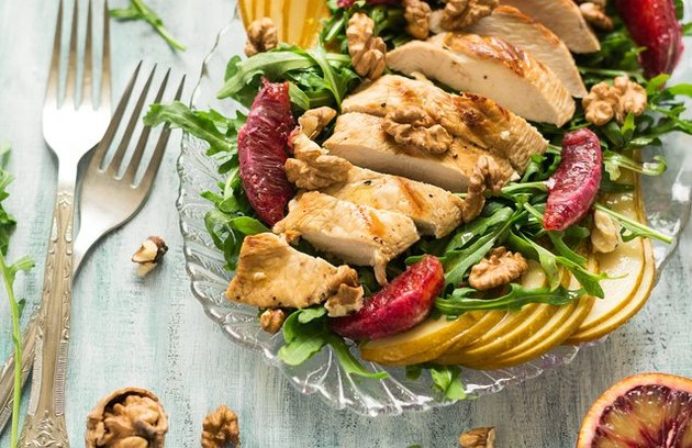 Paleo citrus-basil chicken salad