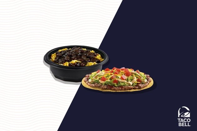 Taco Bell Spicy Tostada With Black Beans and Rice