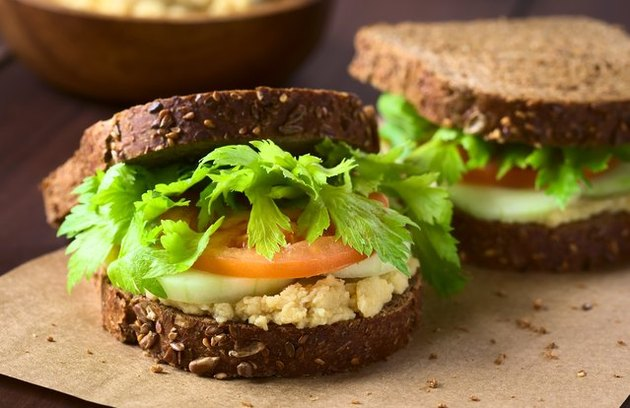 Smashed Chickpea Club Sandwich high-protein sandwich recipes