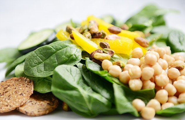 Pistachio and Chickpea Crunch Salad