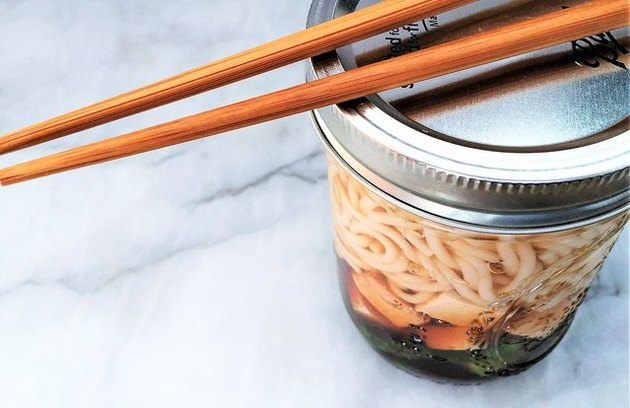 Instant Tofu, Asparagus and Brown Rice Noodle Soup recipe.