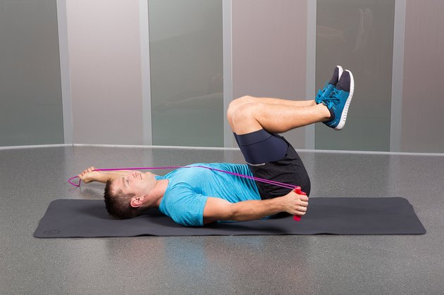 Man Demonstrating How to Do Supine 3-Month Diagonals