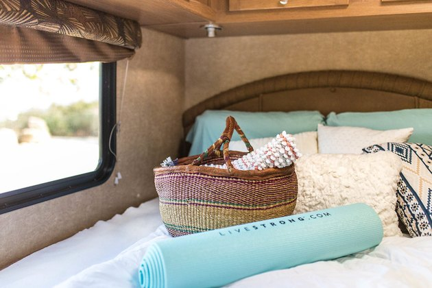 bed in an RV