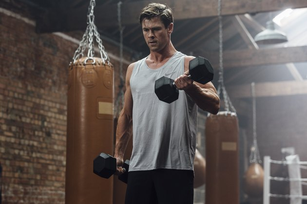 Chris Hemsworth Working Out With His Fitness App Centr