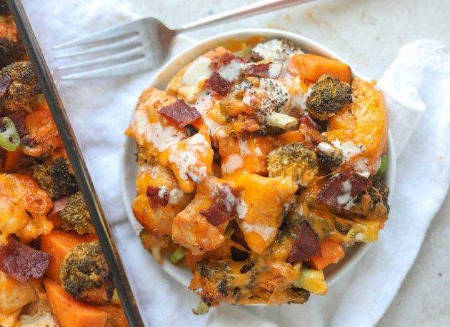 Buffalo Chicken Sweet Potato Casserole recipe