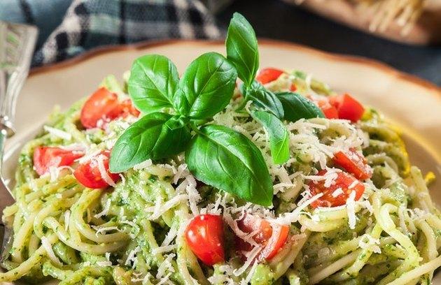 Garden Pesto Linguine recipe