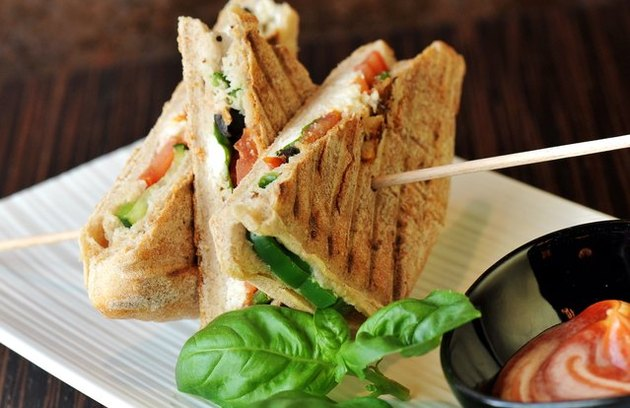 Vegetable and Goat Cheese Panini recipe