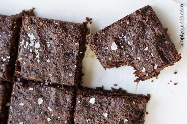 healthy quinoa dessert recipes Fudgy Salted Quinoa Brownies