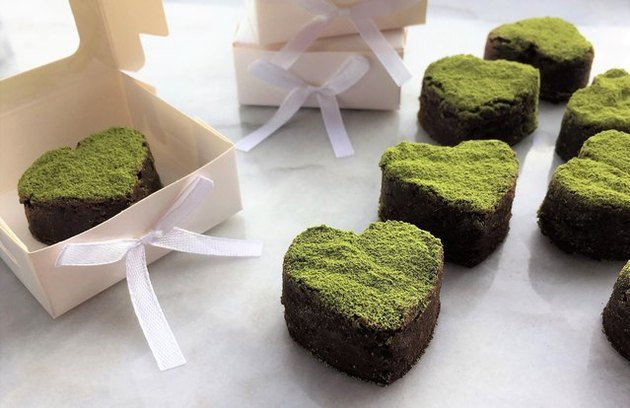 Brownie Bites with Matcha Dust Baking Recipes That Don't Require Baking Soda, Baking Powder or Yeast