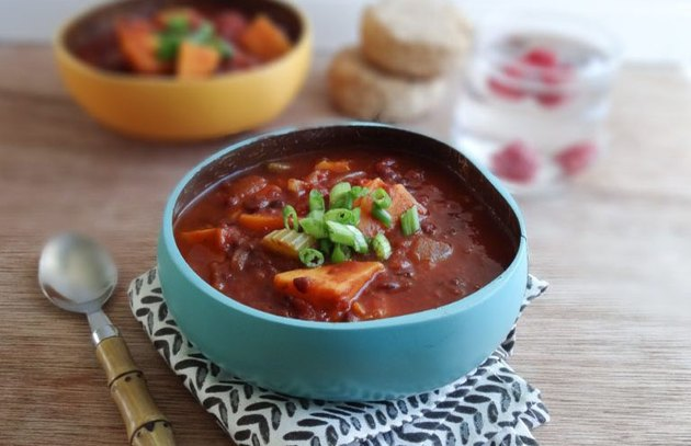 Smoky Chili with Sweet Potatoes recipe