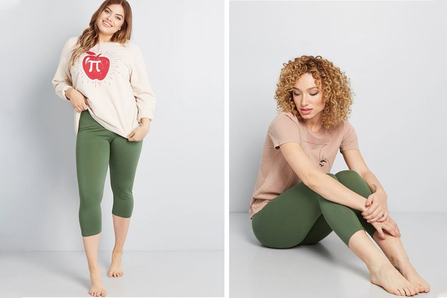 ModCloth Olive Plus-Size Leggings