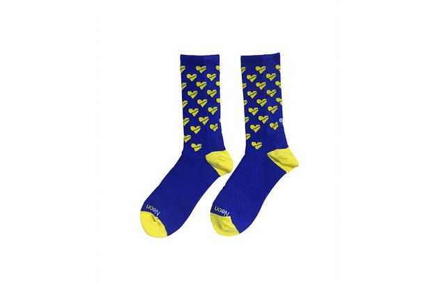 best running socks Neon Bandits Boston Celebration Socks