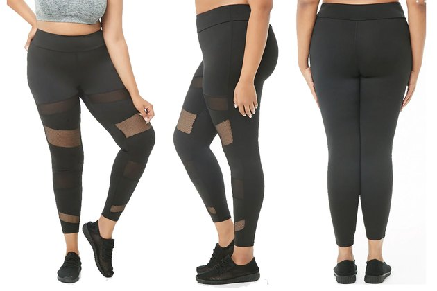 Forever21 Plus Size Black Plus-Size Leggings