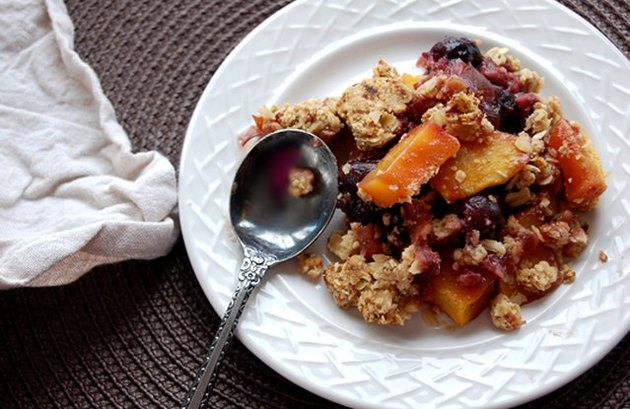 Cherry-Mango Crumble recipe