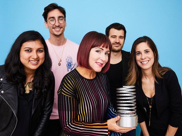 Shambhavi Punja, Eli Sabah, Radu Bulai, Kali Acerra and Jess Barron receive Webby Award