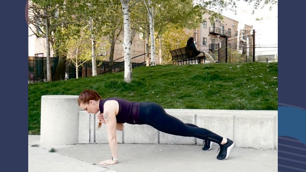 Move 2: Plank With Shoulder Tap
