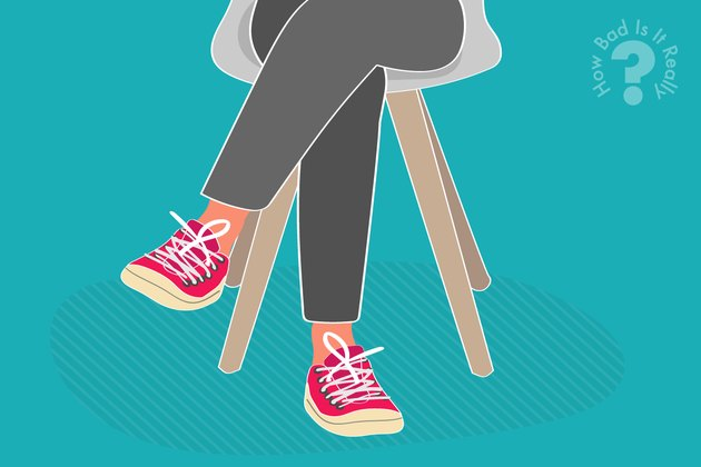 Illustration of a person sitting with legs crossed
