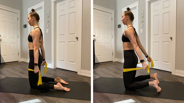 Move 8: Kneeling Chest Expansion with Band