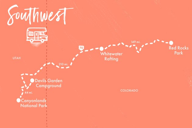 Map of Southwest Road Trip