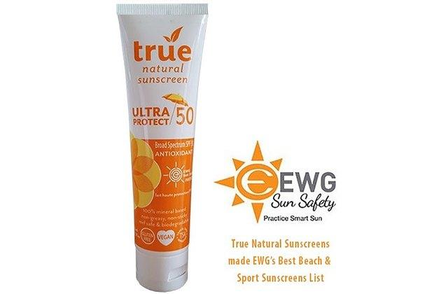 True Natural's ULTRA PROTECT SPF 50 Antioxidant Sunscreen
