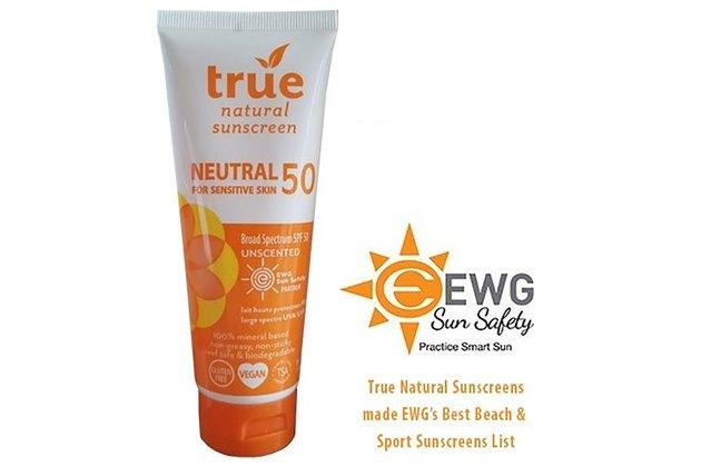 rue Natural SPF 50 Sunscreen, NEUTRAL & Unscented