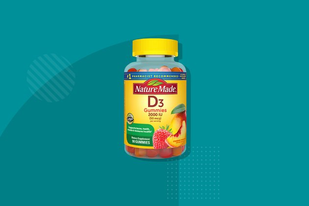 Nature Made D3 adult gummies, one of the best vitamin D supplements