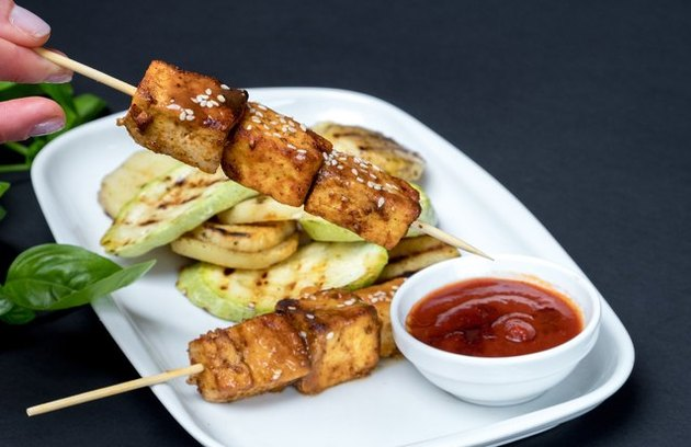 Weight Watchers friendly recipes Pan-Grilled Tofu Skewers