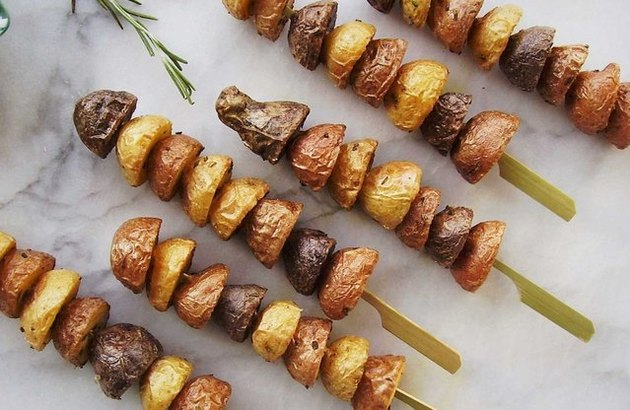 Tri-Color Potato Skewers and Dip recipe