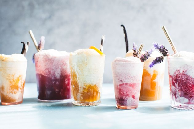 Multicolored Kombucha Floats