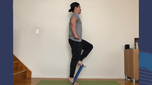 Move 4: Banded Marches With Calf Raise