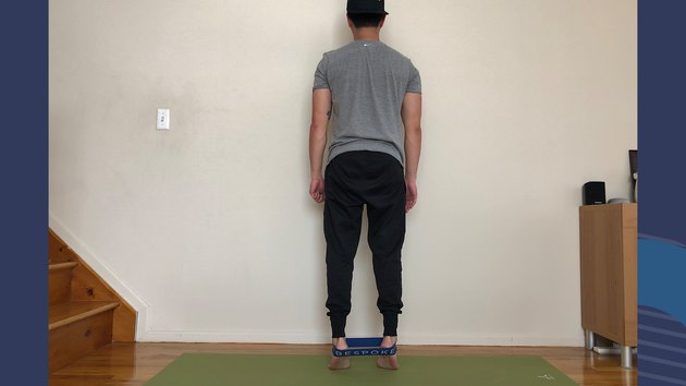 Move 2: Standing Calf Raise With Ankle Band