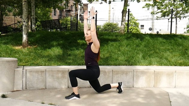 Move 2: Reverse Lunge With Overhead Reach