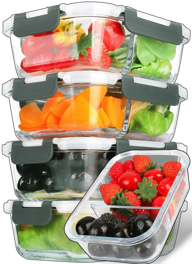 Mcirco Glass Meal Prep Containers