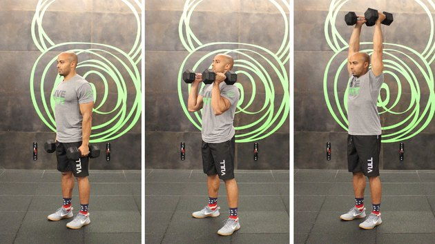 Move 5: Dumbbell Curl to Press
