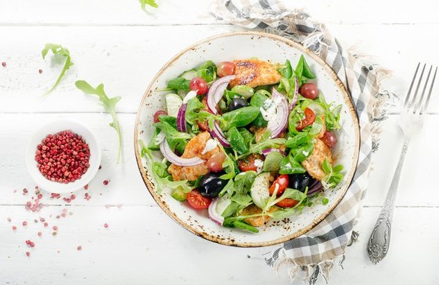 Leafy Rotisserie Chicken Salad with Creamy Tarragon Dressing recipe