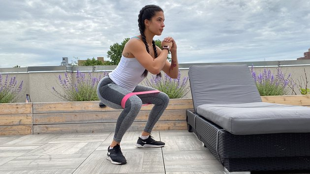 3. Without Weights: Wide Stance Squat With External Rotation