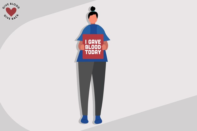 Illustration of a person who donated blood