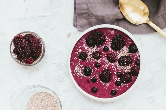 tone it up beautifying blackberry banana smoothie