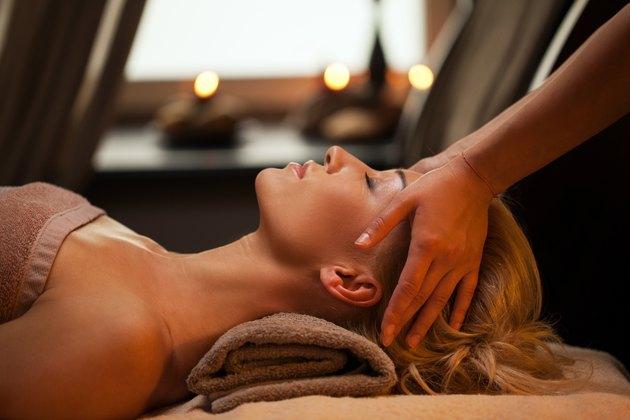 woman enjoys the benefits of a swedish massage