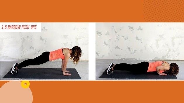 Move 2: 1.5 Narrow Push-Ups