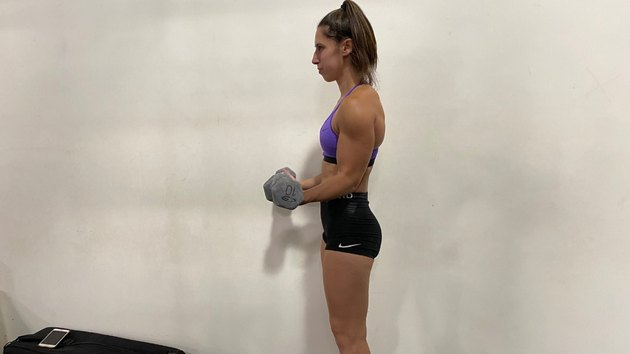 Move 2: Dumbbell Biceps Curl