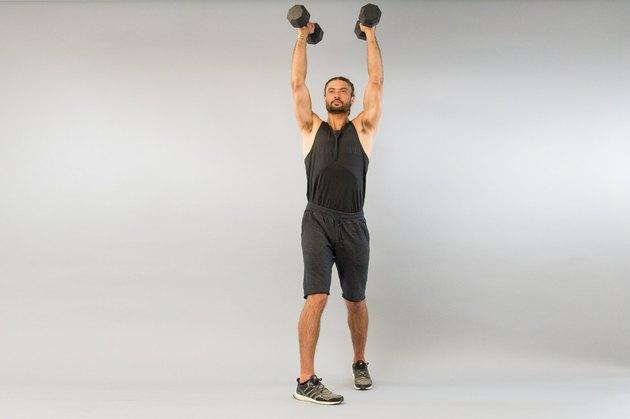 7. Dumbbell Rotational Shoulder Press