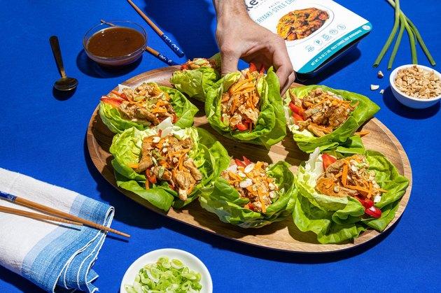 Kevin's Natural Foods Teriyaki Chicken lettuce cups