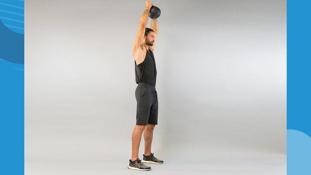 6. Kettlebell Shoulder-to-Shoulder Overhead Press